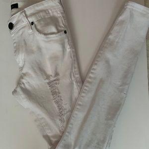 STS BLUE Distressed Cassie Denim- White Size 25